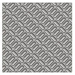 Capsul Another Grey Diamond Metal Texture Large Satin Scarf (square) by Mariart