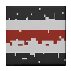 Girl Flags Plaid Red Black Tile Coasters by Mariart