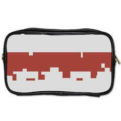 Girl Flags Plaid Red Black Toiletries Bags 2 Side by Mariart
