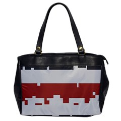 Girl Flags Plaid Red Black Office Handbags by Mariart