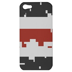 Girl Flags Plaid Red Black Apple Iphone 5 Hardshell Case by Mariart