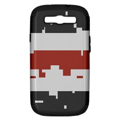 Girl Flags Plaid Red Black Samsung Galaxy S Iii Hardshell Case (pc+silicone) by Mariart
