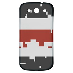 Girl Flags Plaid Red Black Samsung Galaxy S3 S Iii Classic Hardshell Back Case by Mariart