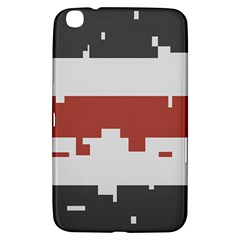Girl Flags Plaid Red Black Samsung Galaxy Tab 3 (8 ) T3100 Hardshell Case  by Mariart