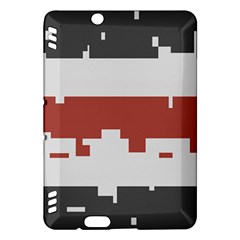 Girl Flags Plaid Red Black Kindle Fire Hdx Hardshell Case by Mariart