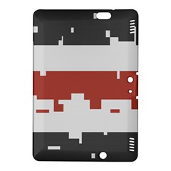 Girl Flags Plaid Red Black Kindle Fire Hdx 8 9  Hardshell Case by Mariart
