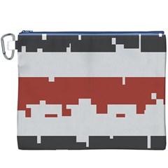 Girl Flags Plaid Red Black Canvas Cosmetic Bag (xxxl) by Mariart