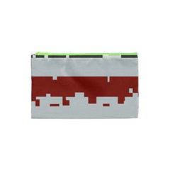 Girl Flags Plaid Red Black Cosmetic Bag (xs) by Mariart
