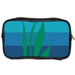 Gender Sea Flags Leaf Toiletries Bags by Mariart