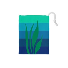 Gender Sea Flags Leaf Drawstring Pouches (small)  by Mariart