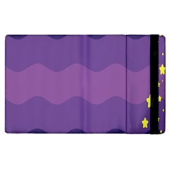 Glimragender Flags Wave Waves Chevron Purple Blue Star Yellow Space Apple Ipad 3/4 Flip Case by Mariart