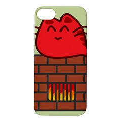 Happy Cat Fire Animals Cute Red Apple Iphone 5s/ Se Hardshell Case by Mariart