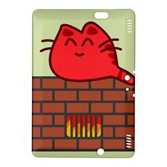 Happy Cat Fire Animals Cute Red Kindle Fire HDX 8.9  Hardshell Case by Mariart