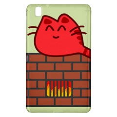 Happy Cat Fire Animals Cute Red Samsung Galaxy Tab Pro 8 4 Hardshell Case by Mariart
