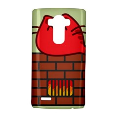 Happy Cat Fire Animals Cute Red Lg G4 Hardshell Case by Mariart