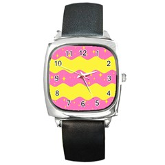 Glimra Gender Flags Star Space Square Metal Watch by Mariart