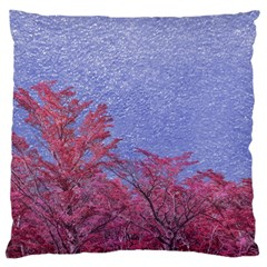 Fantasy Landscape Theme Poster Large Flano Cushion Case (one Side) by dflcprints