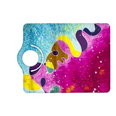 Fabric Rainbow Kindle Fire Hd (2013) Flip 360 Case by Mariart