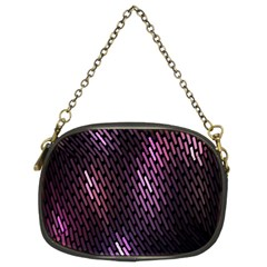 Light Lines Purple Black Chain Purses (two Sides)  by Mariart