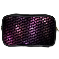 Light Lines Purple Black Toiletries Bags 2 Side by Mariart