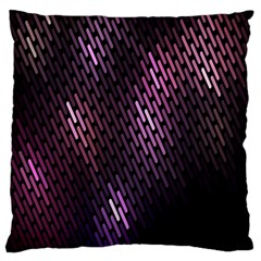 Light Lines Purple Black Large Cushion Case (two Sides) by Mariart