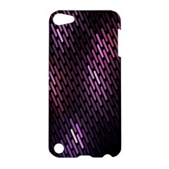 Light Lines Purple Black Apple Ipod Touch 5 Hardshell Case by Mariart