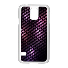 Light Lines Purple Black Samsung Galaxy S5 Case (white) by Mariart