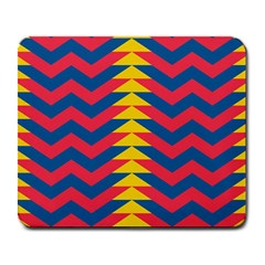 Lllustration Geometric Red Blue Yellow Chevron Wave Line Large Mousepads by Mariart