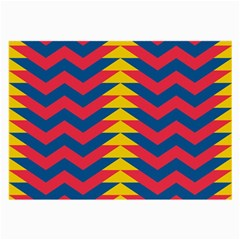 Lllustration Geometric Red Blue Yellow Chevron Wave Line Large Glasses Cloth (2 Side) by Mariart