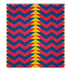 Lllustration Geometric Red Blue Yellow Chevron Wave Line Shower Curtain 66  X 72  (large)  by Mariart