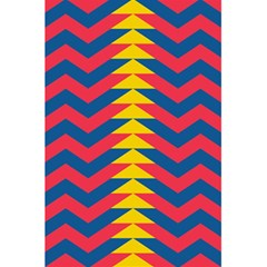 Lllustration Geometric Red Blue Yellow Chevron Wave Line 5 5  X 8 5  Notebooks by Mariart
