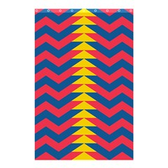 Lllustration Geometric Red Blue Yellow Chevron Wave Line Shower Curtain 48  X 72  (small)  by Mariart