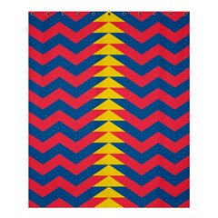 Lllustration Geometric Red Blue Yellow Chevron Wave Line Shower Curtain 60  X 72  (medium)  by Mariart