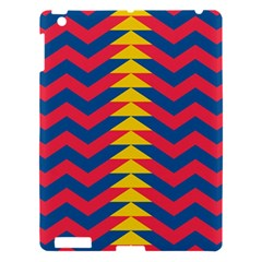 Lllustration Geometric Red Blue Yellow Chevron Wave Line Apple Ipad 3/4 Hardshell Case by Mariart