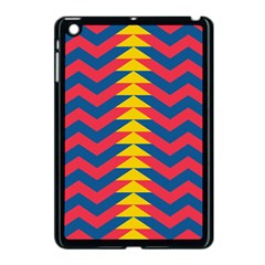 Lllustration Geometric Red Blue Yellow Chevron Wave Line Apple Ipad Mini Case (black) by Mariart