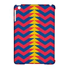 Lllustration Geometric Red Blue Yellow Chevron Wave Line Apple Ipad Mini Hardshell Case (compatible With Smart Cover) by Mariart