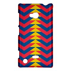 Lllustration Geometric Red Blue Yellow Chevron Wave Line Nokia Lumia 720 by Mariart