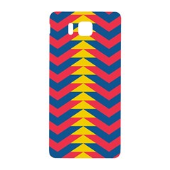 Lllustration Geometric Red Blue Yellow Chevron Wave Line Samsung Galaxy Alpha Hardshell Back Case by Mariart