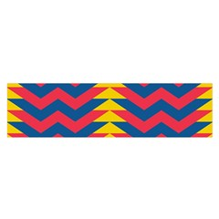 Lllustration Geometric Red Blue Yellow Chevron Wave Line Satin Scarf (oblong) by Mariart