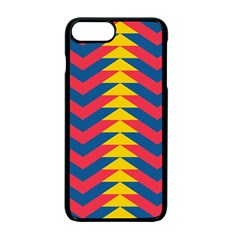 Lllustration Geometric Red Blue Yellow Chevron Wave Line Apple Iphone 7 Plus Seamless Case (black) by Mariart