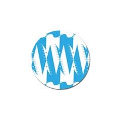 Make Tessellation Bird Tessellation Blue White Golf Ball Marker (10 Pack) by Mariart