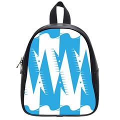 Make Tessellation Bird Tessellation Blue White School Bags (small)  by Mariart