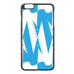 Make Tessellation Bird Tessellation Blue White Apple Iphone 6 Plus/6s Plus Black Enamel Case by Mariart
