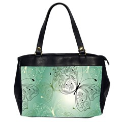 Glass Splashback Abstract Pattern Butterfly Office Handbags (2 Sides)  by Mariart