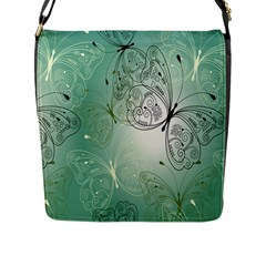 Glass Splashback Abstract Pattern Butterfly Flap Messenger Bag (l)  by Mariart