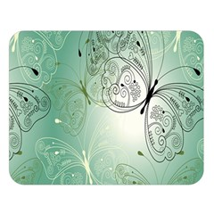 Glass Splashback Abstract Pattern Butterfly Double Sided Flano Blanket (large)  by Mariart
