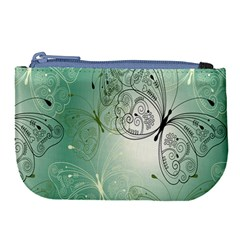 Glass Splashback Abstract Pattern Butterfly Large Coin Purse