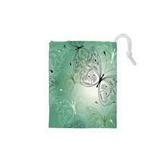 Glass Splashback Abstract Pattern Butterfly Drawstring Pouches (xs)  by Mariart