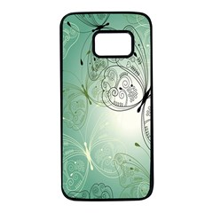 Glass Splashback Abstract Pattern Butterfly Samsung Galaxy S7 Black Seamless Case by Mariart