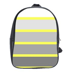 Molly Gender Line Flag Yellow Grey School Bags(large)  by Mariart